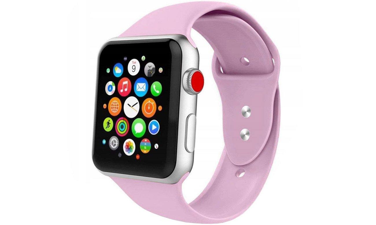 Gumowy pasek Tech-Protect Iconband Liliowy do Apple Watch 38-40mm
