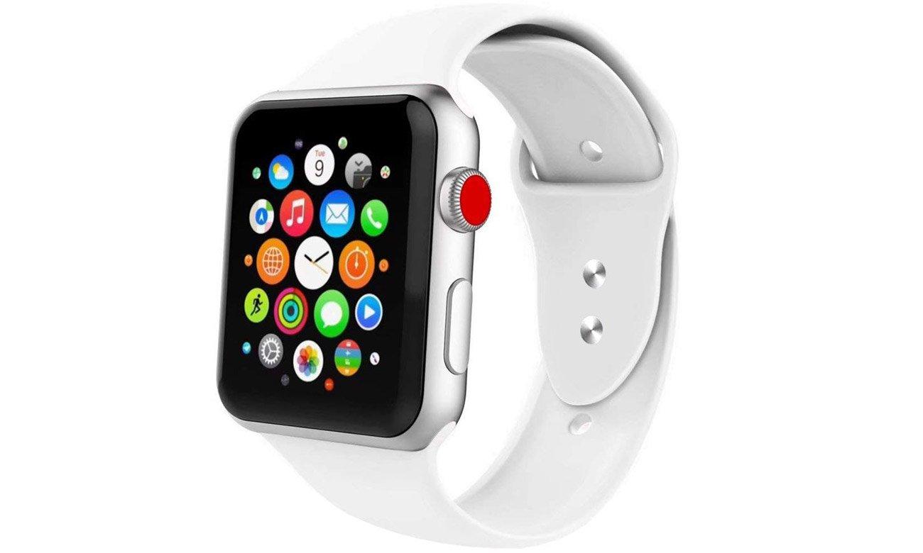Gumowy pasek Tech-Protect Iconband Biały do Apple Watch 38-40mm