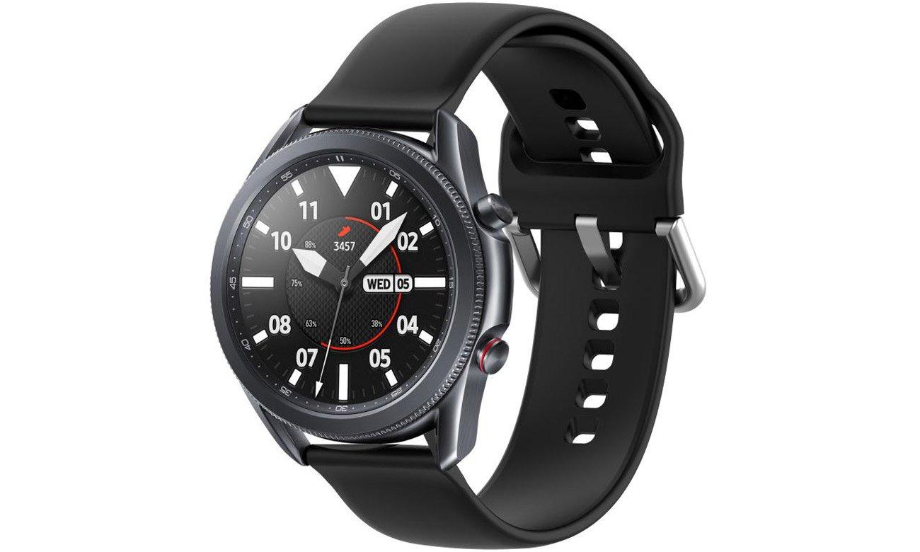 Gumowy pasek Tech-Protect Iconband Czarny do smartwatchy