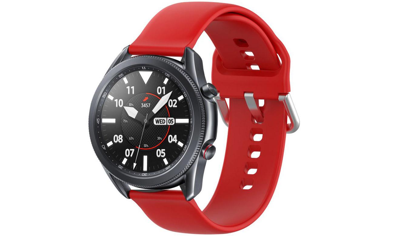 Gumowy pasek Tech-Protect Iconband Czerwony do smartwatchy