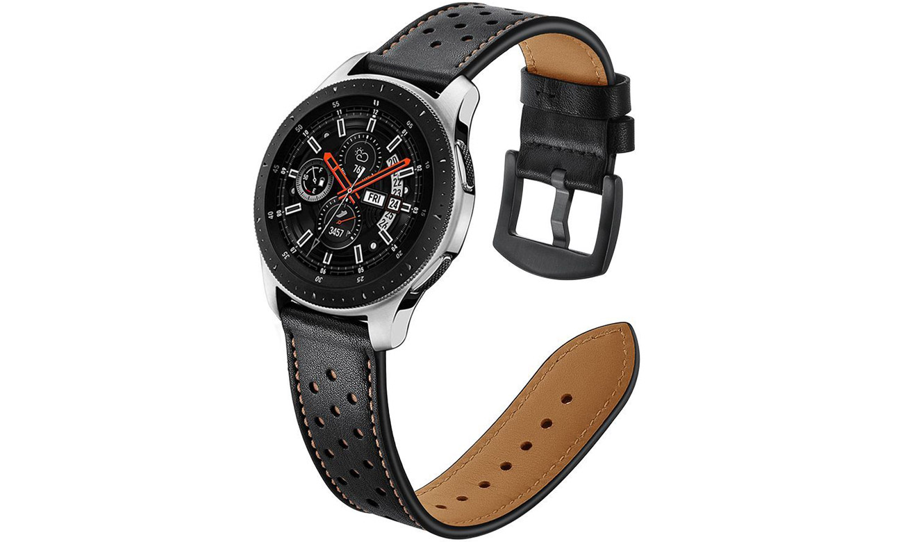 Pasek skórzany Czarny Tech-Protect Leather
