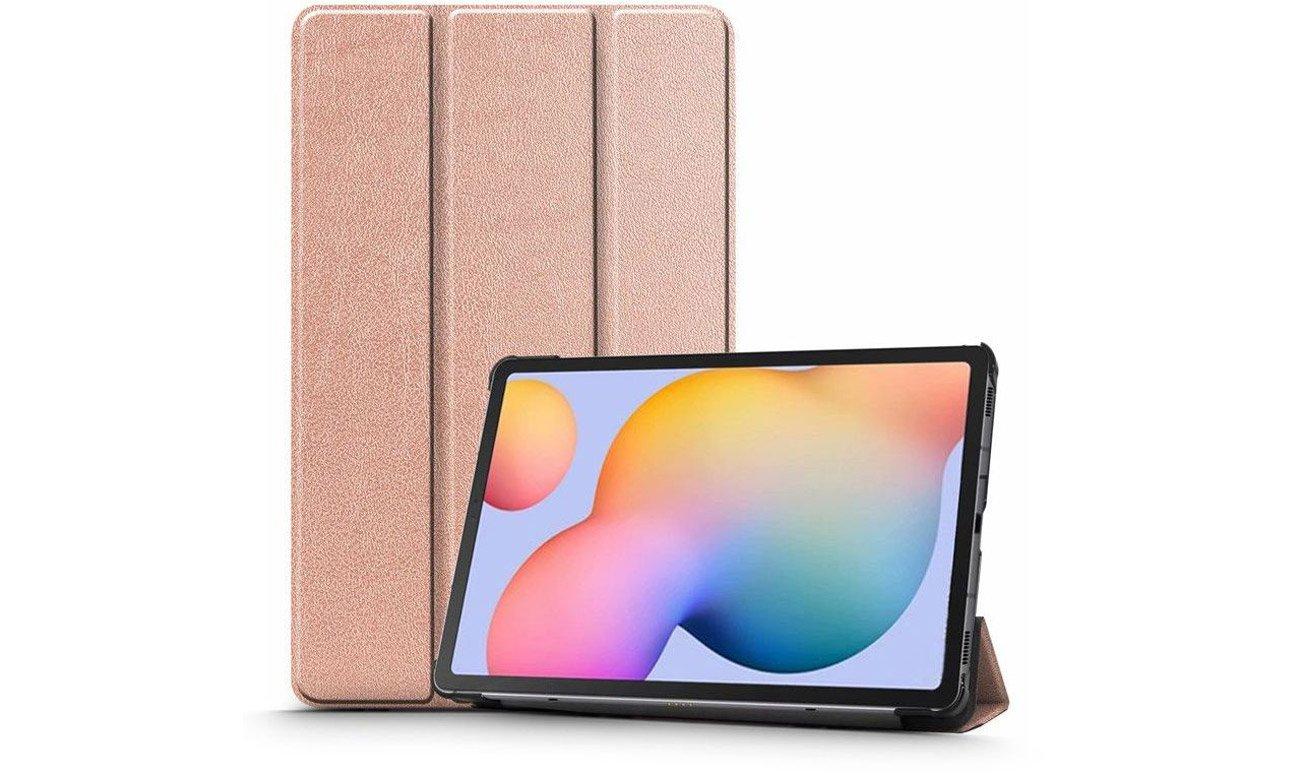 Etui Tech-Protect SmartCase do Galaxy Tab S6 Lite Różowe złoto