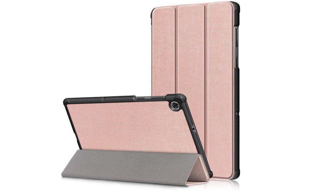 Etui Tech-Protect SmartCase do Lenovo Tab M10 Plus Różowe złoto