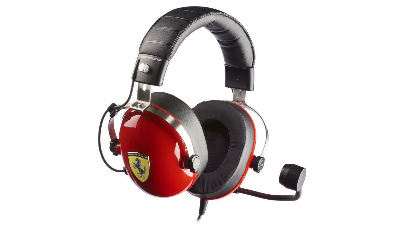 Słuchawki Thrustmaster T.Racing Scuderia FERRARI EDITION mikrofon konstrukcja