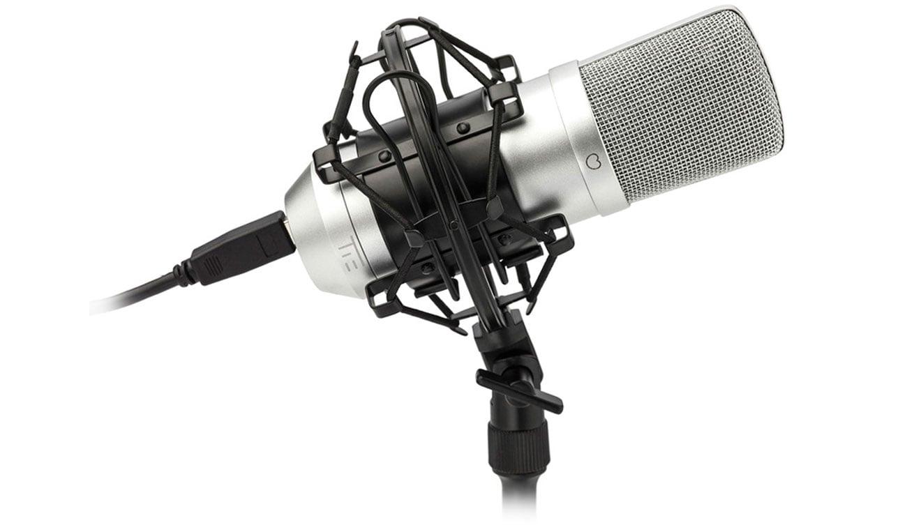 Mikrofon TIE Condenser Mic USB srebrny
