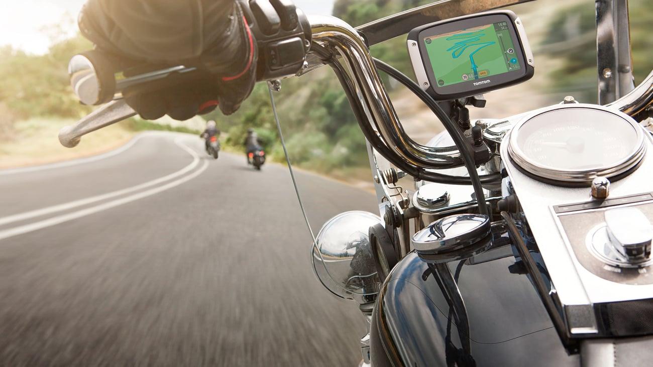 Nawigacja GPS TomTom Rider 400 - asystent pasa ruchu