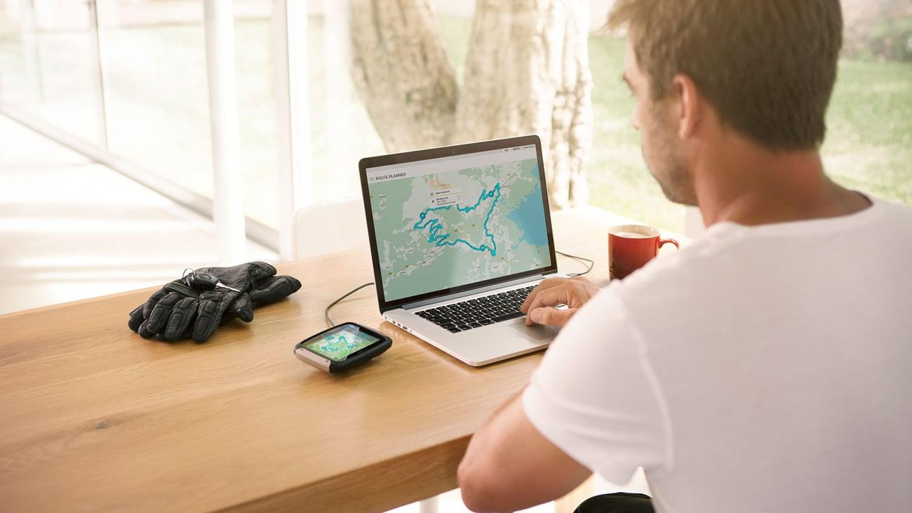 Nawigacja GPS TomTom Rider 400 - planowanie trasy