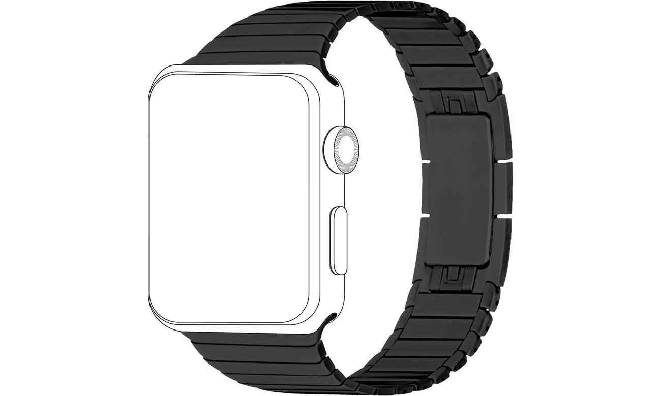 Pasek do Apple Watch 42/44mm Bransoleta czarny 40-37-1847