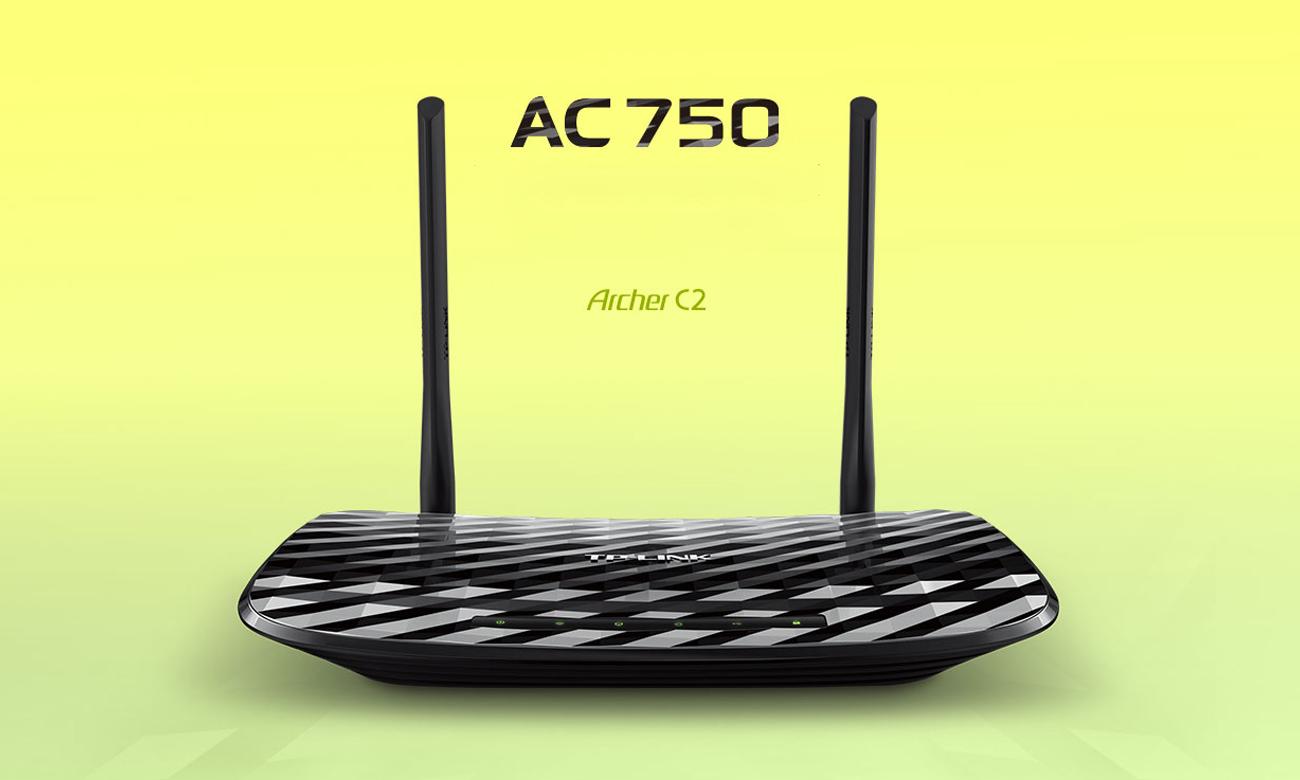 tp link archer c2 750mb s a b g n ac usb dualband routery sklep internetowy. Black Bedroom Furniture Sets. Home Design Ideas