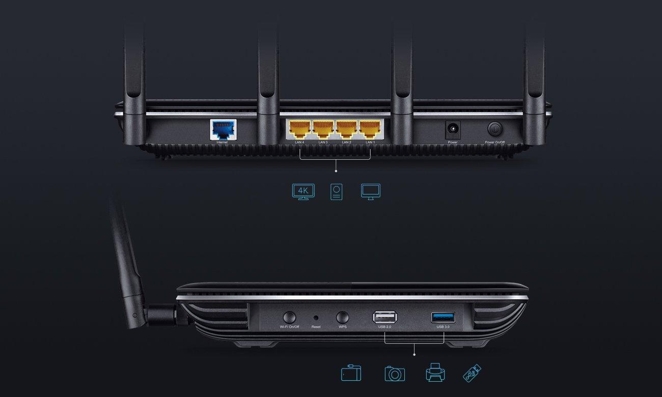 TP-Link Archer C3150 porty USB