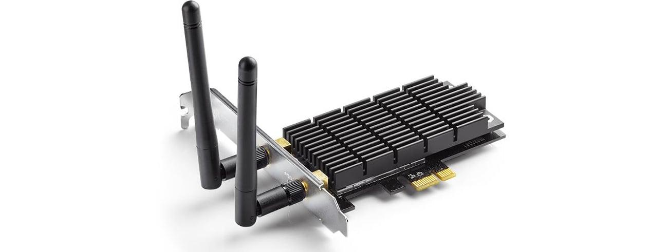 Karta sieciowa PCI-E TP-LINK Archer T6E - Większa stabilność dzięki radiatorowi