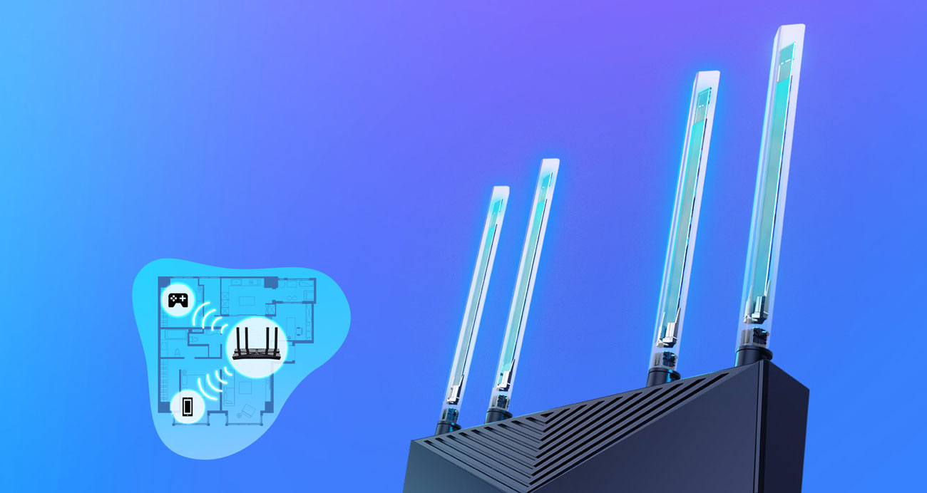 TP-Link Archer AX20 - Anteny