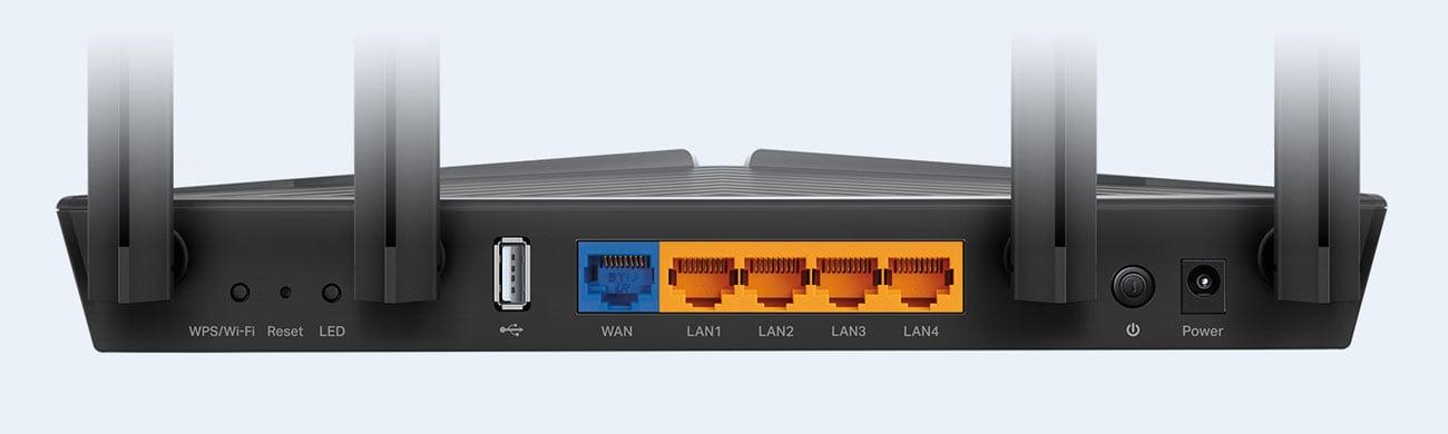 TP-Link Archer AX20 - Złącza USB, LAN