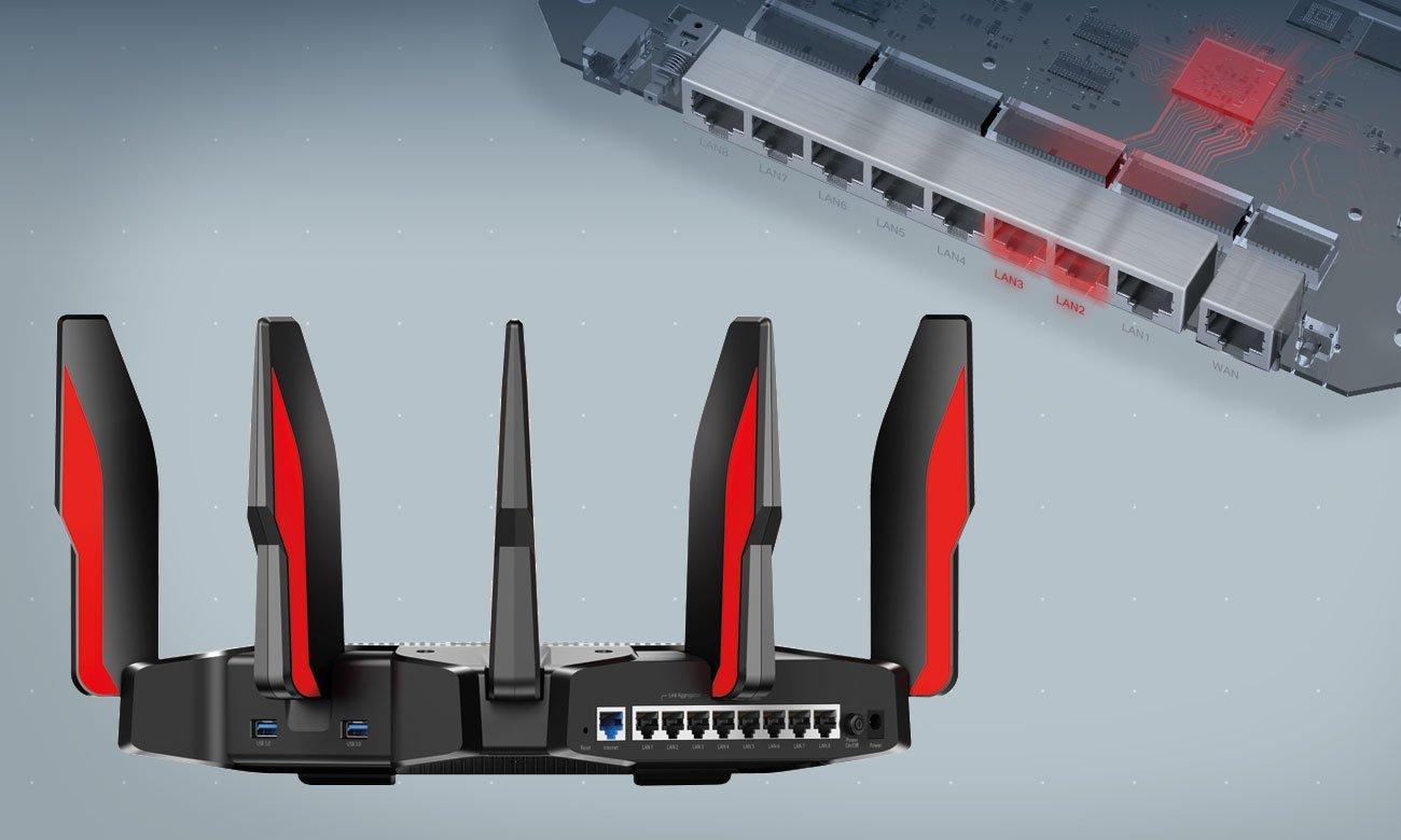 TP-Link Archer C5400X Złącza RJ-45 LAN