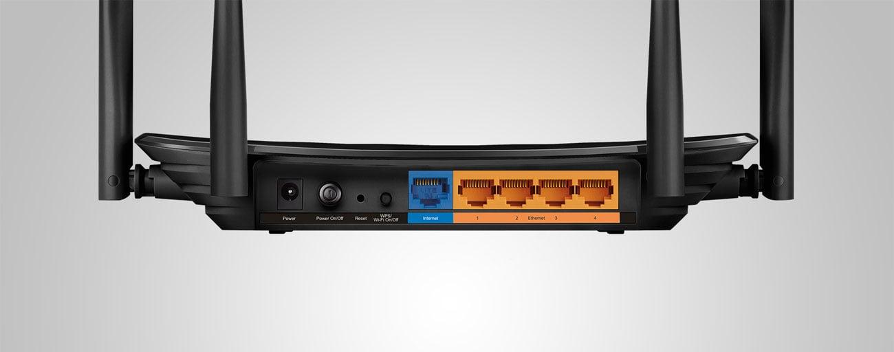 TP-Link Archer C6 Złącza LAN WAN