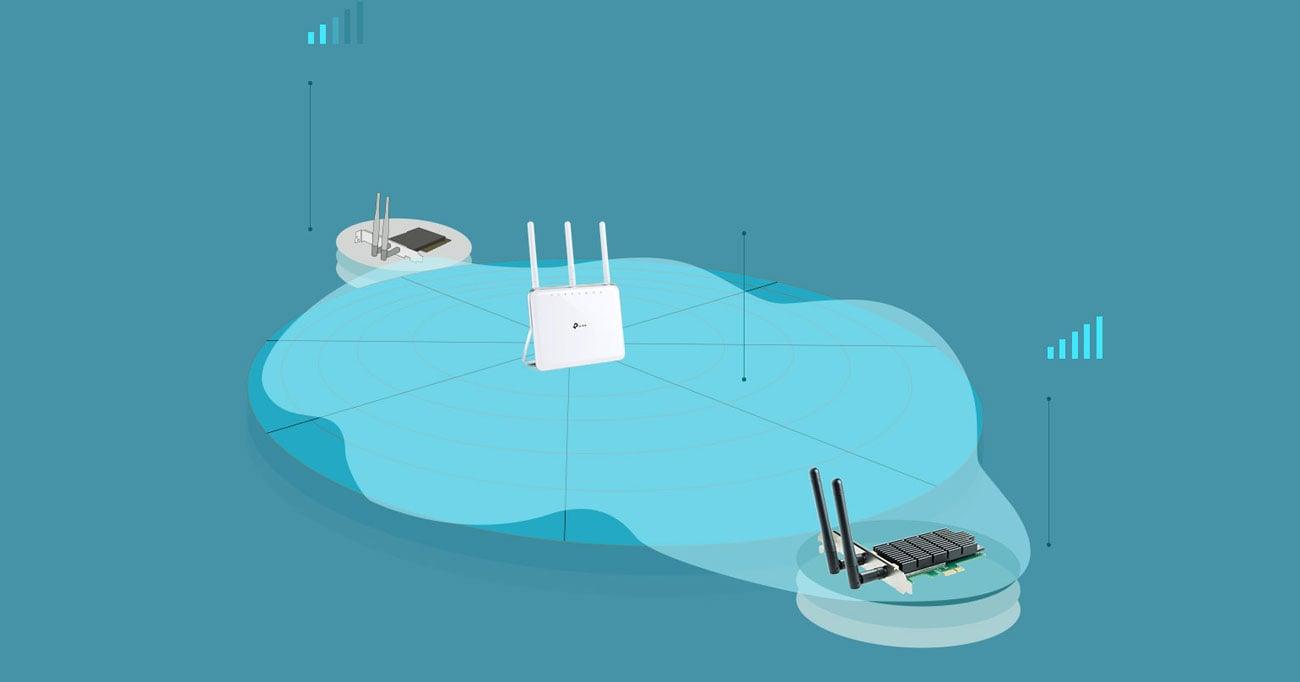 TP-Link Archer T4E technologia zwiększania zasięgu beamforming