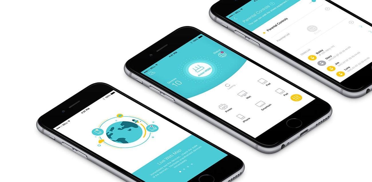 Aplikacja Tether