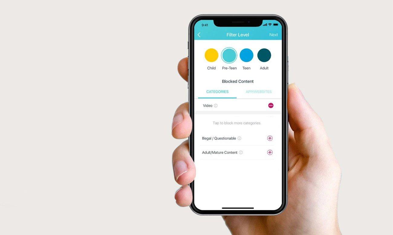 TP-Link Deco M4 Aplikacja, kontrola rodzicielska