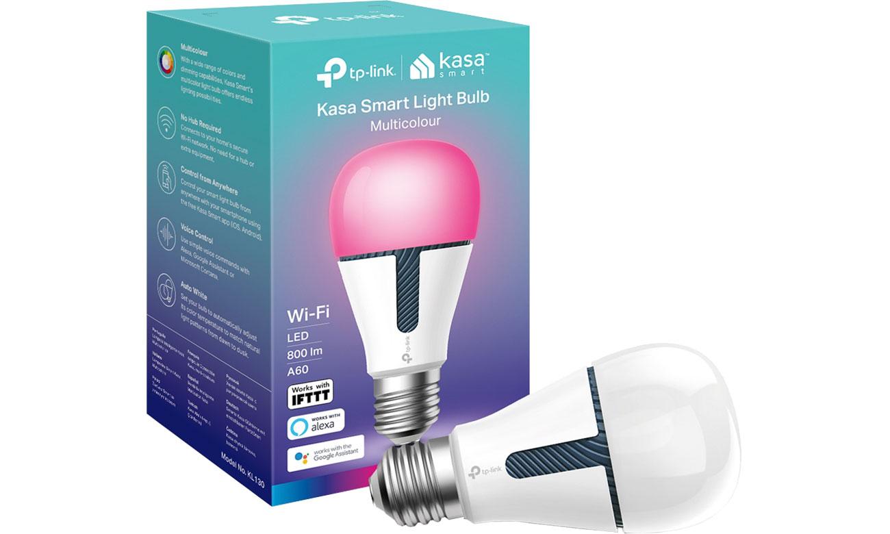 Inteligentne oświetlenie TP-Link Żarówka LED RGB WiFi (E27/800lm)