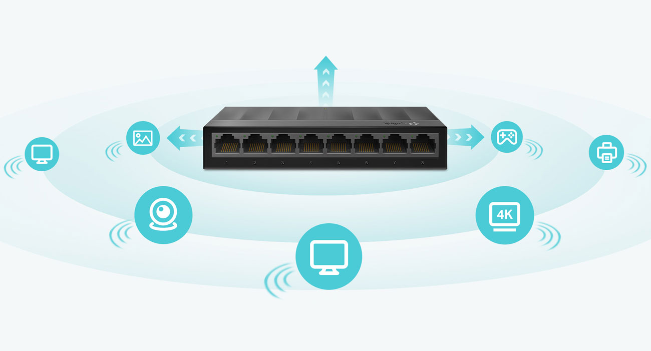 Switch TP-Link 8p LS1008G
