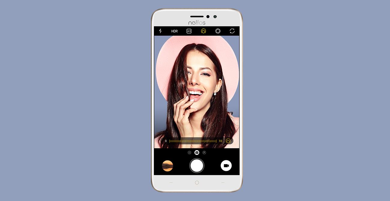 TP-Link Neffos C7 selfie 8 mpix upiększanie arcsoft