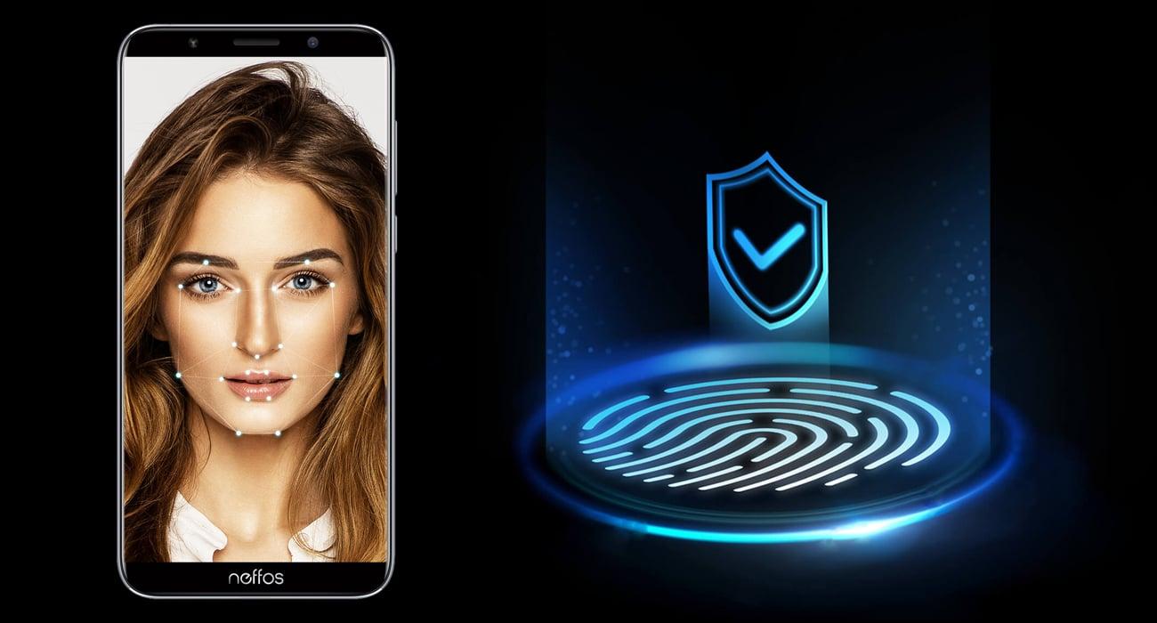 TP-Link Neffos C9A czytnik linii papilarnych face unlock