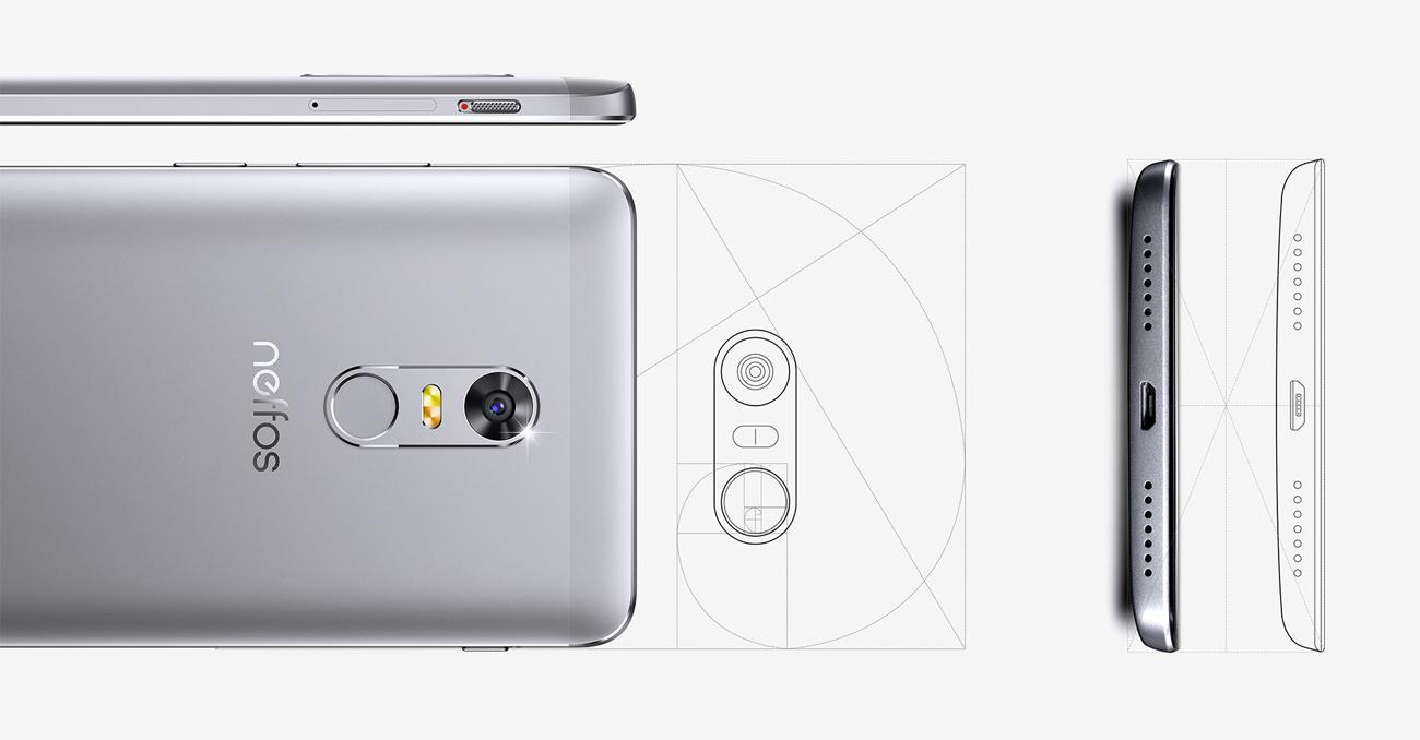 TP-Link Neffos X1 ergonomiczny projekt, złota proporcja