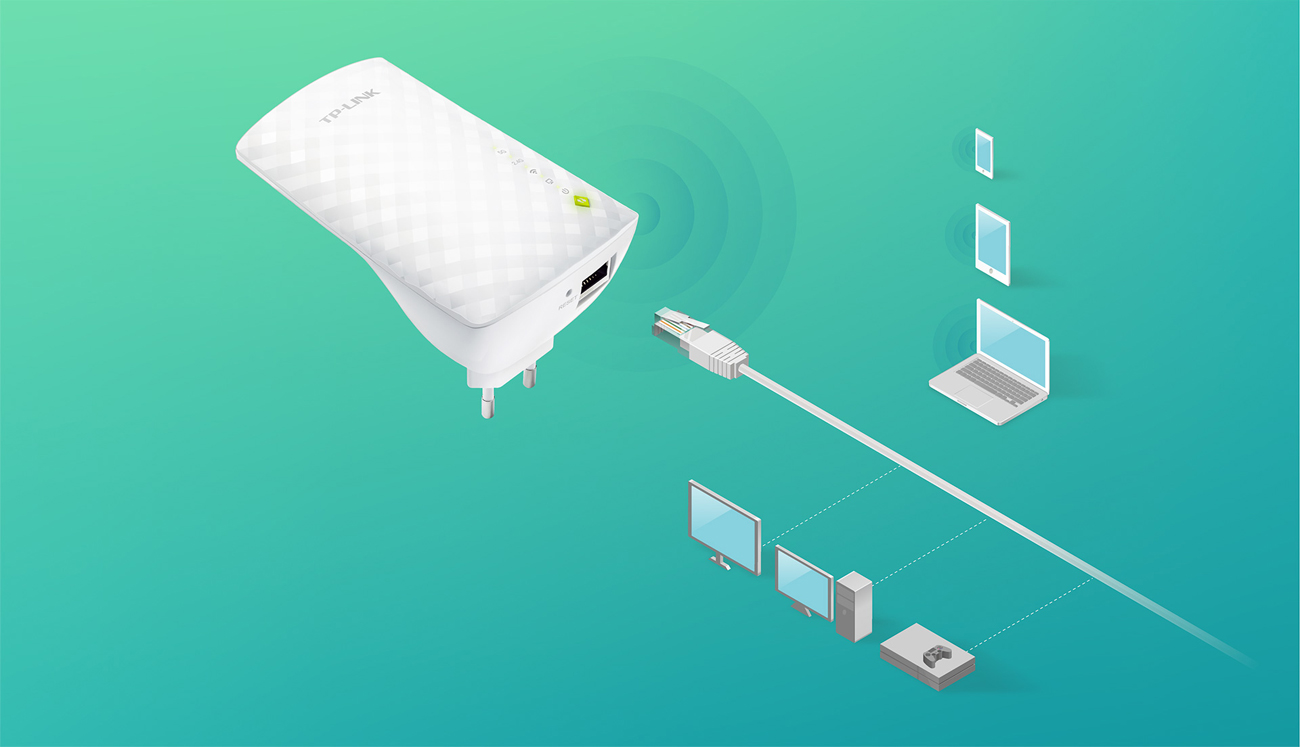 TP-Link RE200 złącze Ethernet