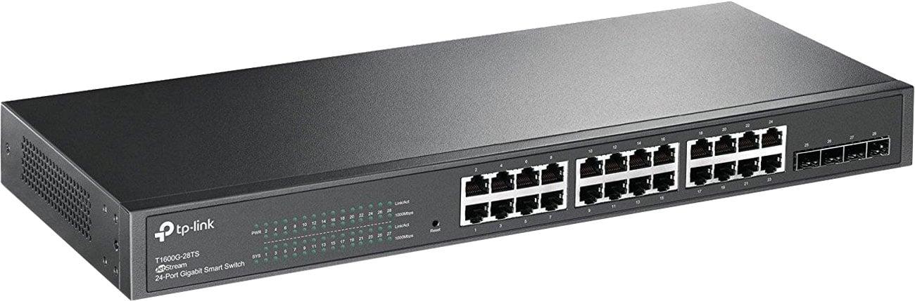Switch TP-Link 28p T1600G-28TS(TL-SG2424) 24x1000Mbit, 4xSFP zarządzalny SMB