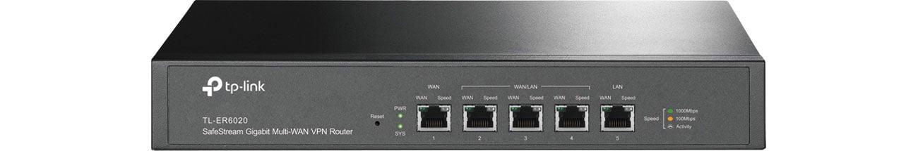 TP-Link TL-ER6020 V2 - Widok z przodu