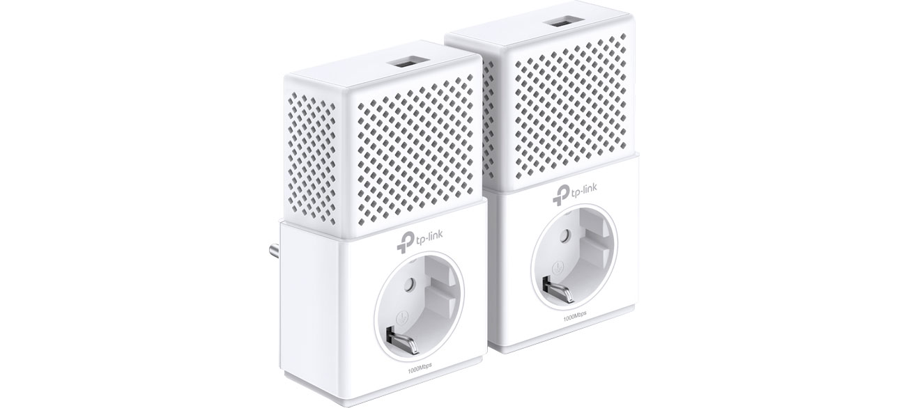 Adapter HomePlug (PLC) TP-Link TL-PA7010P KIT PowerLine 1000Mb/s (2 szt, gniazdo)