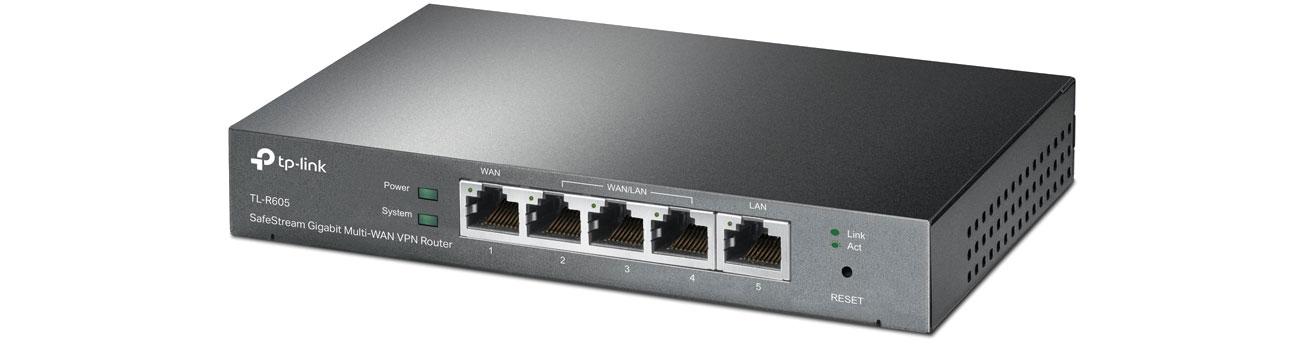 Router TP-Link TL-R605 (1xWAN 1xLAN 3xWAN/LAN) VPN