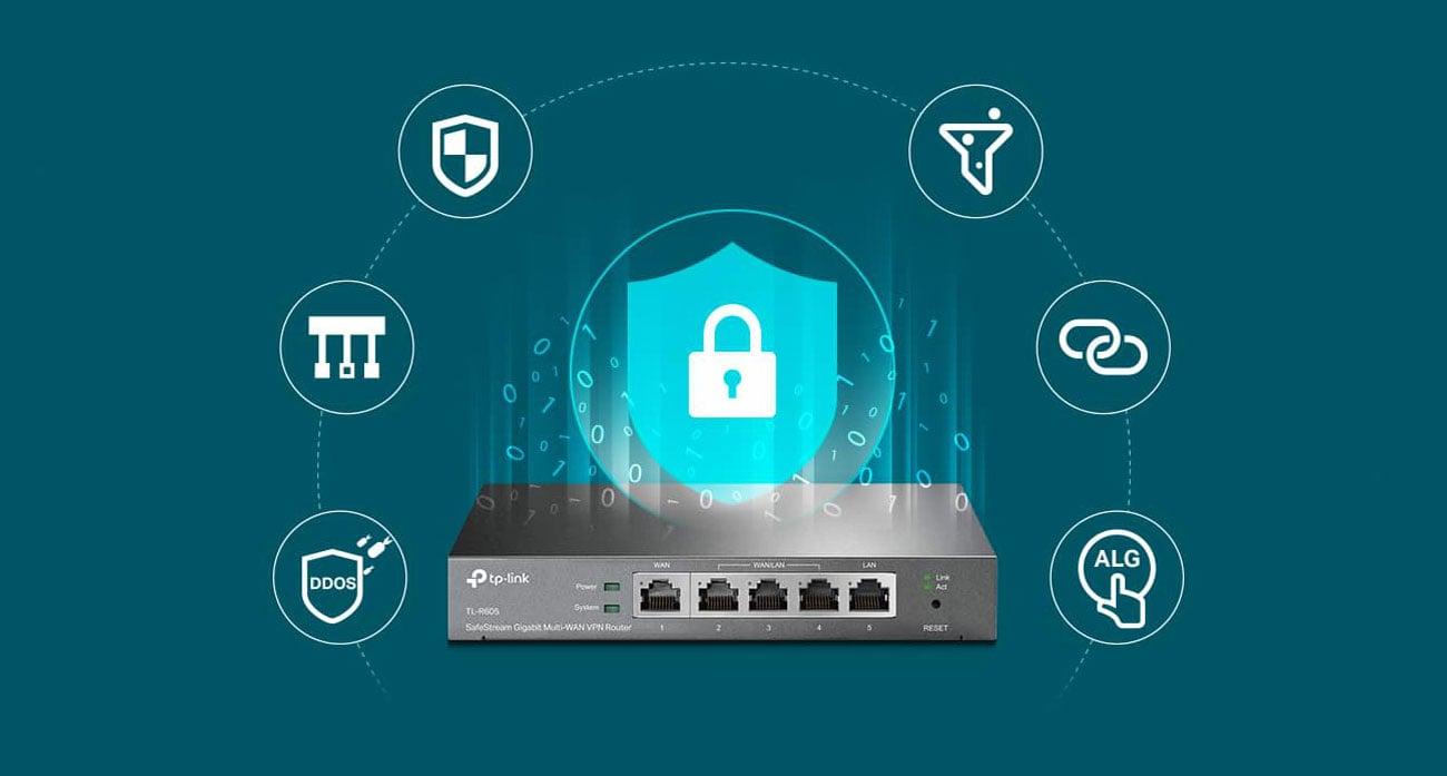 TP-Link TL-R605 - Bezpieczeństwo