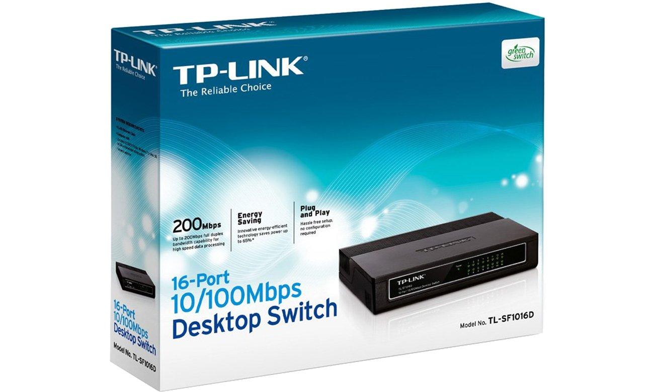 switch TL-SF1016D box