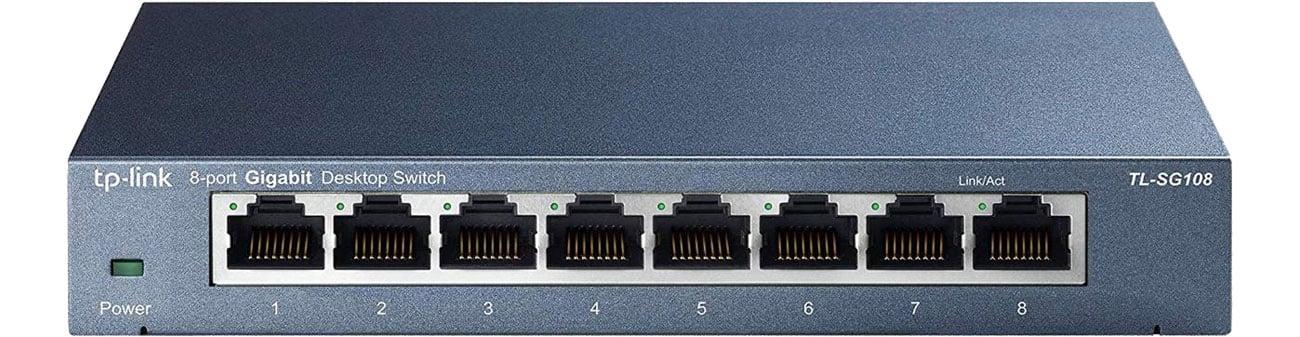 TP-Link 8p TL-SG108 Widok z przodu