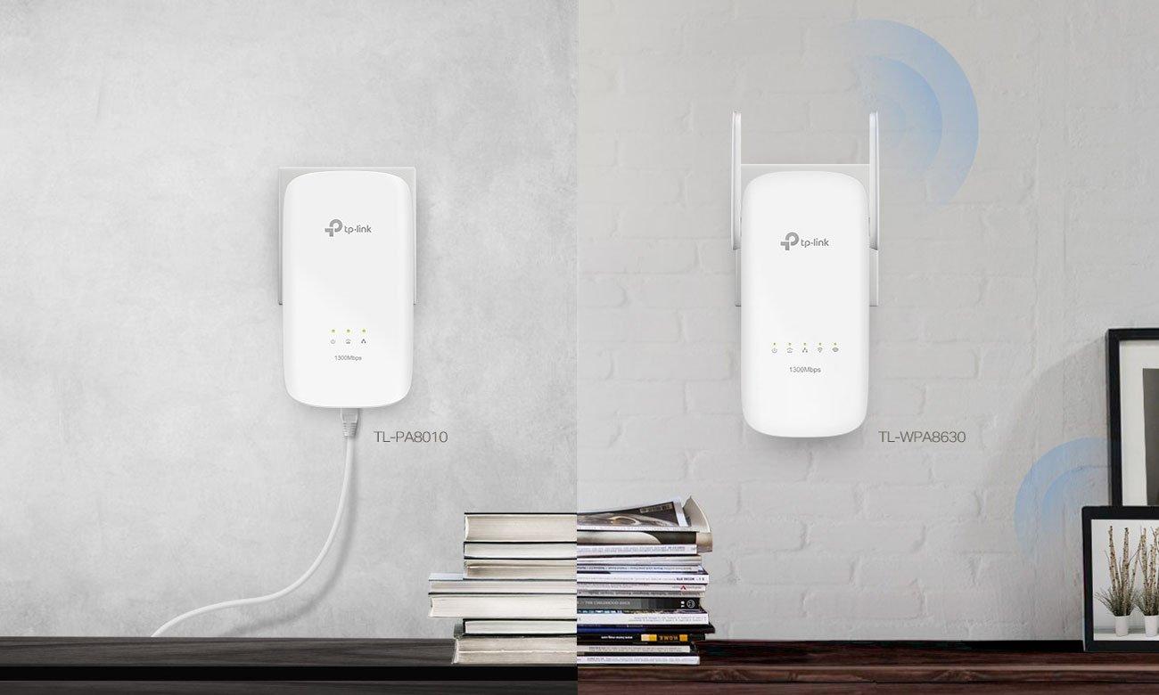 TP-Link TL-WPA8630 KIT Dwupasmowa sieć Wi-Fi