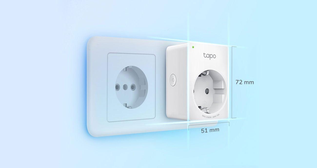 TP-Link Tapo P100 - Kompaktowe wymiary