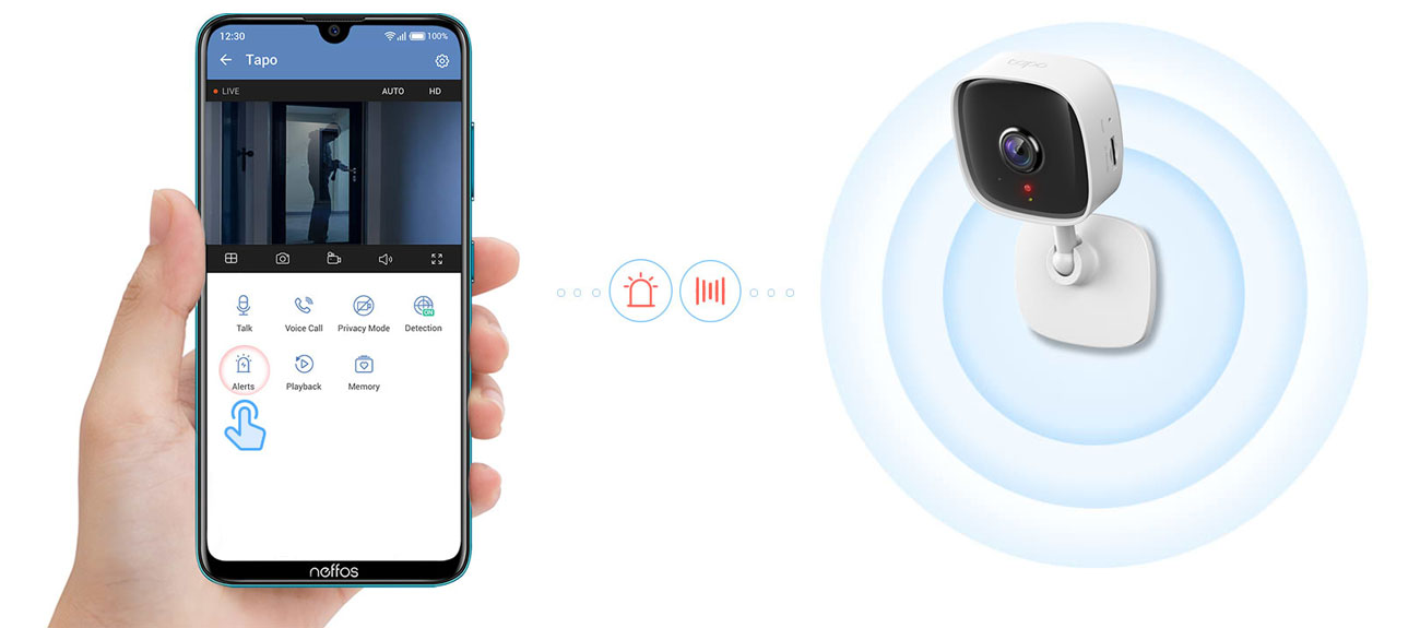 Kamera IP TP-Link Tapo C100 1080P LED IR