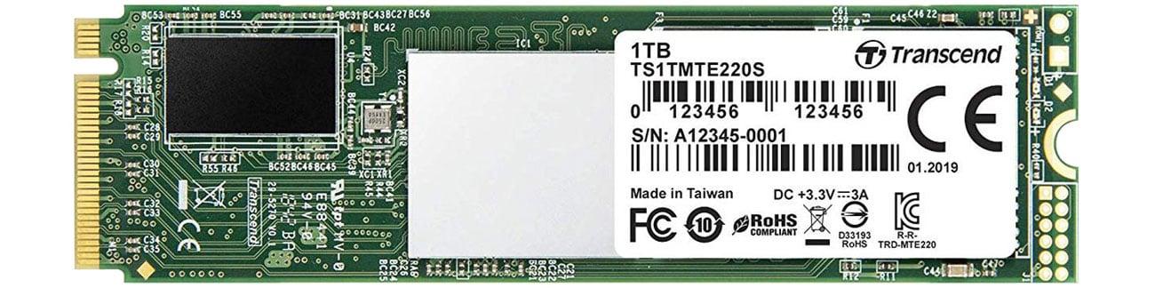 Dysk SSD Transcend 1TB M.2 PCIe x4 220S TS1TMTE220S