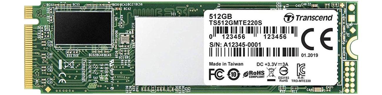 Dysk SSD Transcend 512GB M.2 PCIe x4 220S TS512GMTE220S