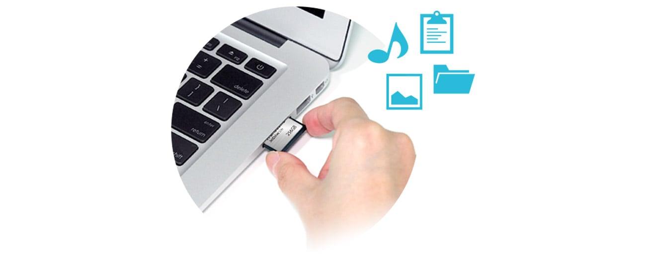 Transcend 64GB JetDrive Lite 330 MacBook szybka instalacja