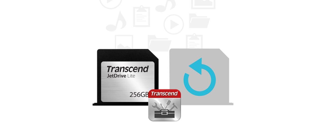 Transcend 256GB JetDrive Lite 330 MacBook bezpieczenstwo plikow
