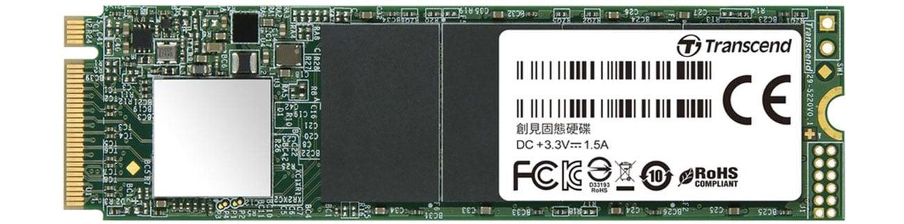 Dysk SSD Transcend 256GB M.2 PCIe Gen3 x4 NVMe 2280 TS256GMTE110S