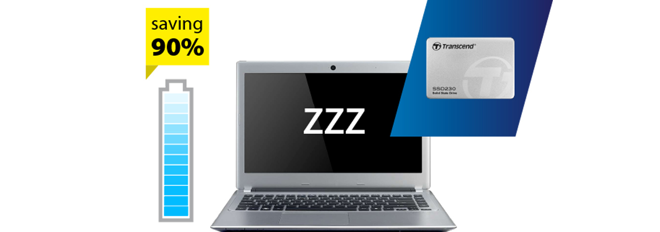 Dysk SSD Transcend Oszczędzanie energii