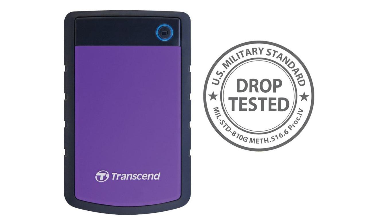 Transcend StoreJet 25 H3P 2TB czarno-fioletowy USB 3.0