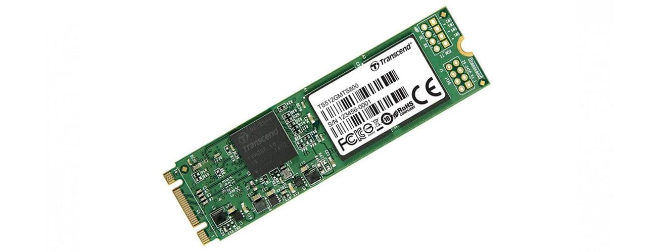 Transcend 512GB 2,5'' SATA SSD M.2 2280 duża prękość transferu mały rozmiar wytrzymałosć