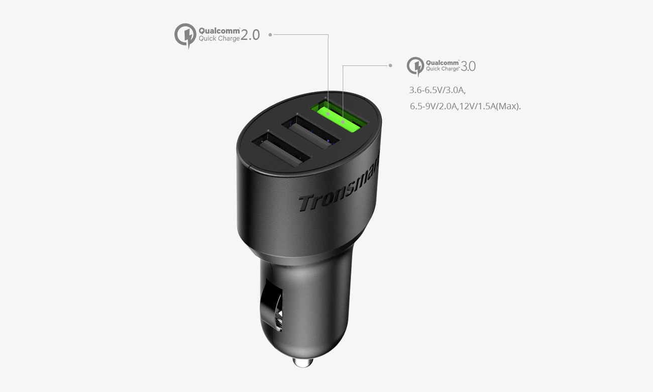 Tronsmart C3PTA Technologia  Quick Charge 3.0
