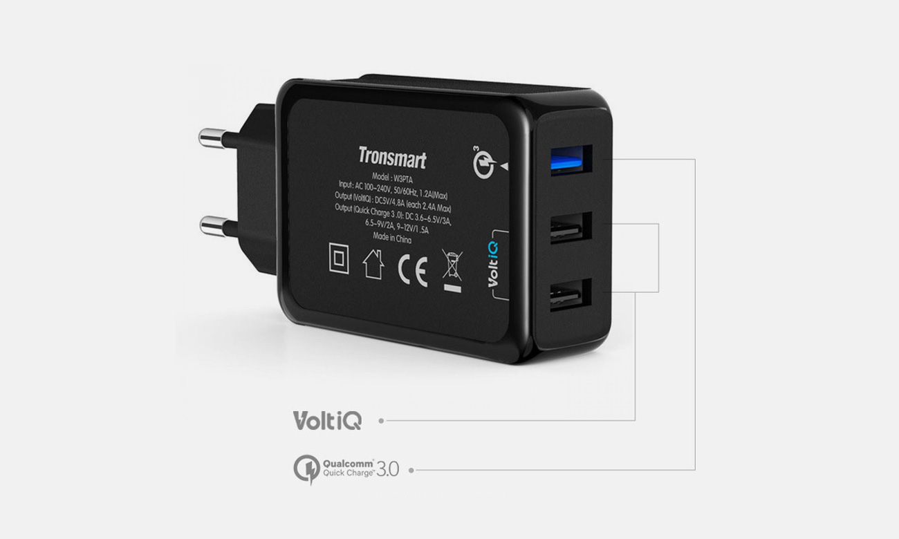 Tronsmart W3PTA Technologia  Quick Charge 3.0