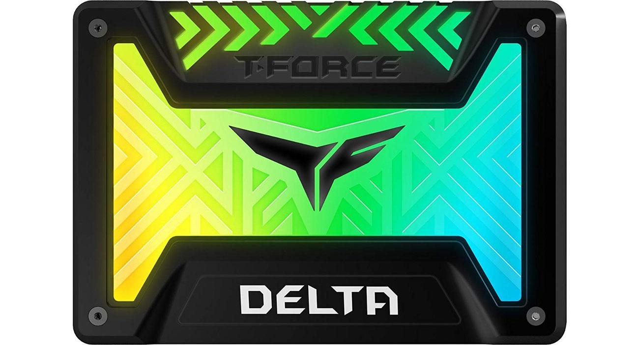 Dysk SSD Team Group 250GB 2,5'' sata ssd t-force delta rgb black t253tr250g3c313
