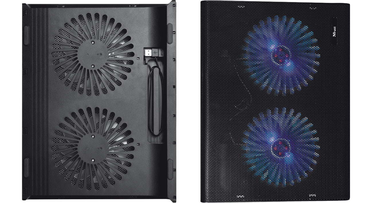 Trust Azul Dwa wentylatory LED, zasilanie USB